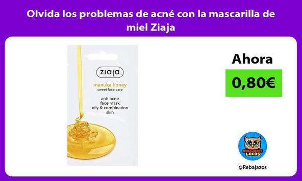 Olvida los problemas de acné con la mascarilla de miel Ziaja
