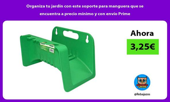 Organiza tu jardín con este soporte para manguera que se encuentra a precio mínimo y con envío Prime