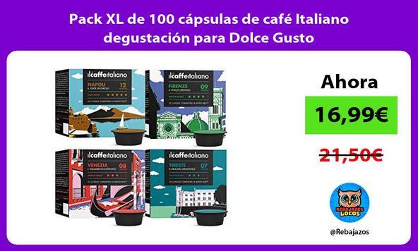 Pack XL de 100 cápsulas de café Italiano degustación para Dolce Gusto