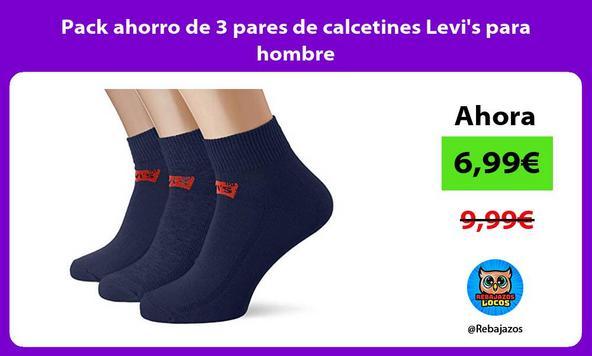 Pack ahorro de 3 pares de calcetines Levi's para hombre