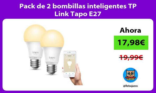 Pack de 2 bombillas inteligentes TP Link Tapo E27