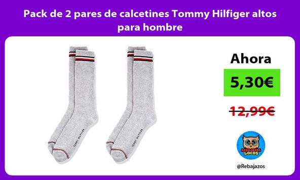 Pack de 2 pares de calcetines Tommy Hilfiger altos para hombre