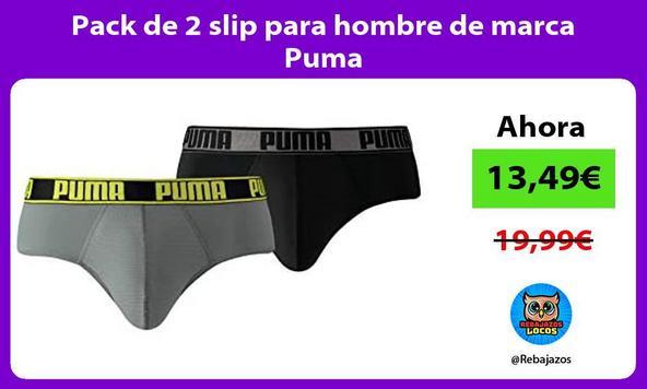 Pack de 2 slip para hombre de marca Puma