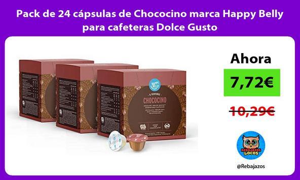 Pack de 24 cápsulas de Chococino marca Happy Belly para cafeteras Dolce Gusto
