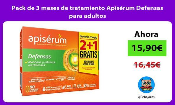 Pack de 3 meses de tratamiento Apisérum Defensas para adultos