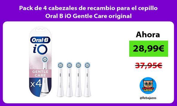 Pack de 4 cabezales de recambio para el cepillo Oral B iO Gentle Care original