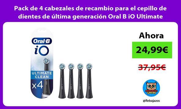 Pack de 4 cabezales de recambio para el cepillo de dientes de última generación Oral B iO Ultimate