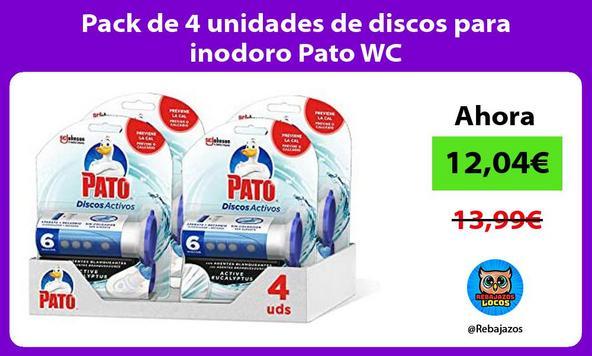 Pack de 4 unidades de discos para inodoro Pato WC