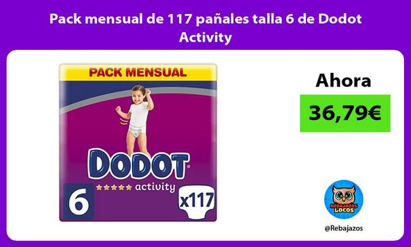 Pack mensual de 117 pañales talla 6 de Dodot Activity