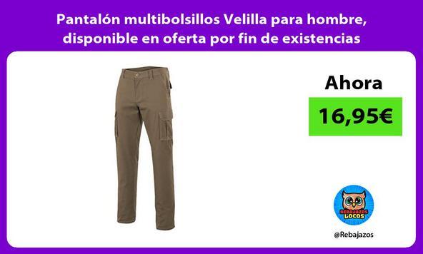 Pantalón multibolsillos Velilla para hombre, disponible en oferta por fin de existencias