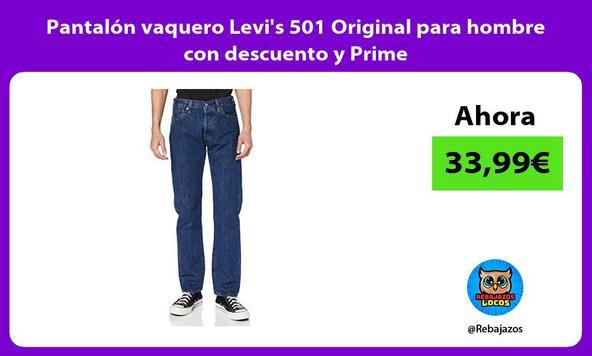 Pantalón vaquero Levi's 501 Original para hombre con descuento y Prime
