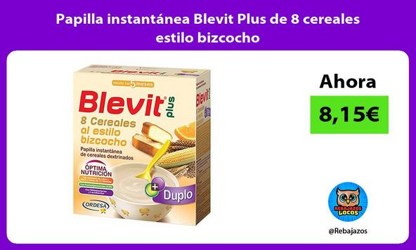 Papilla instantánea Blevit Plus de 8 cereales estilo bizcocho