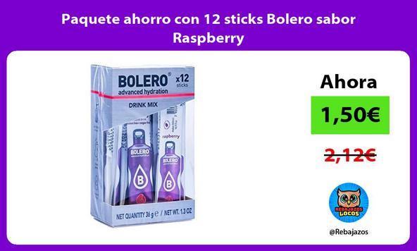Paquete ahorro con 12 sticks Bolero sabor Raspberry