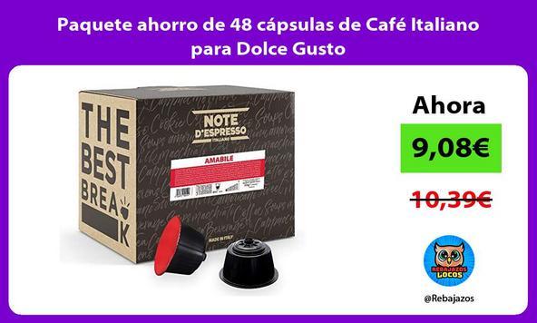 Paquete ahorro de 48 cápsulas de Café Italiano para Dolce Gusto