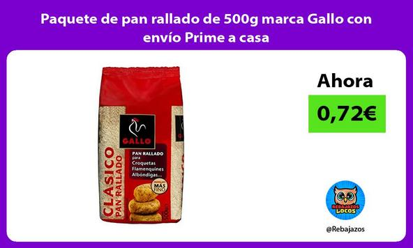 Paquete de pan rallado de 500g marca Gallo con envío Prime a casa