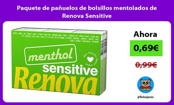 Paquete de pañuelos de bolsillos mentolados de Renova Sensitive