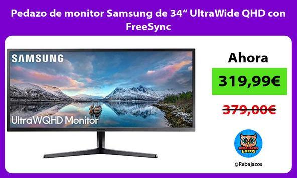 """Pedazo de monitor Samsung de 34"""" UltraWide QHD con FreeSync"""