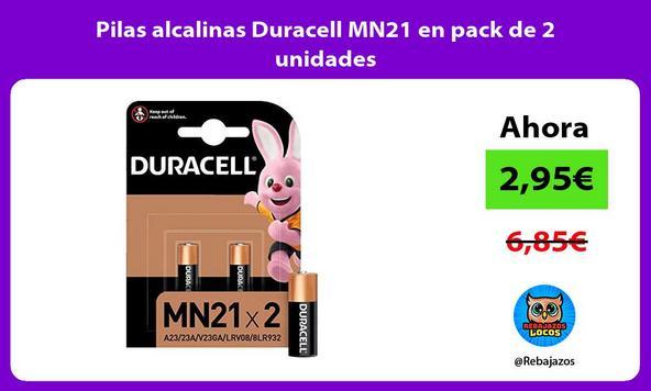 Pilas alcalinas Duracell MN21 en pack de 2 unidades