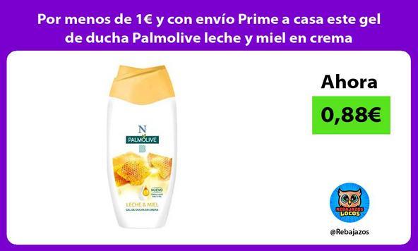 Por menos de 1€ y con envío Prime a casa este gel de ducha Palmolive leche y miel en crema