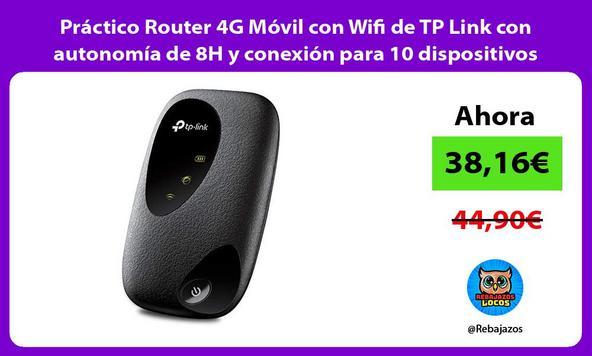 Práctico Router 4G Móvil con Wifi de TP Link con autonomía de 8H y conexión para 10 dispositivos