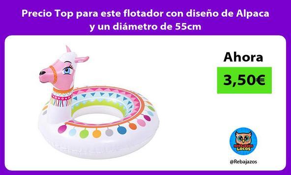 Precio Top para este flotador con diseño de Alpaca y un diámetro de 55cm