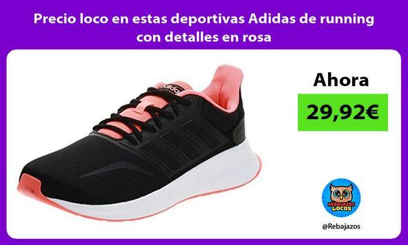 Precio loco en estas deportivas Adidas de running con detalles en rosa