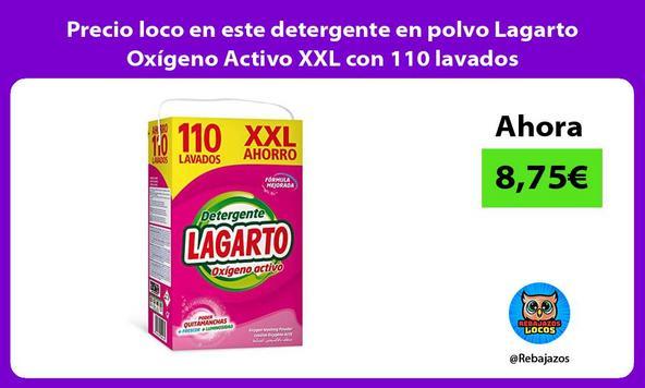Precio loco en este detergente en polvo Lagarto Oxígeno Activo XXL con 110 lavados
