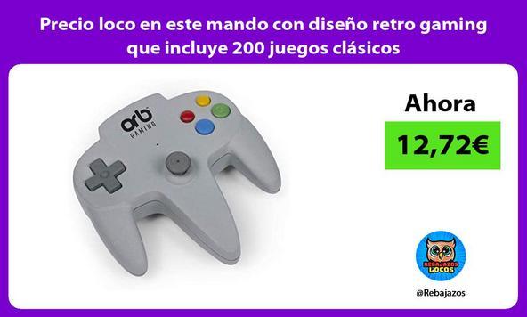 Precio loco en este mando con diseño retro gaming que incluye 200 juegos clásicos