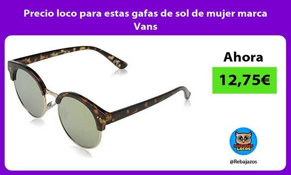 Precio loco para estas gafas de sol de mujer marca Vans