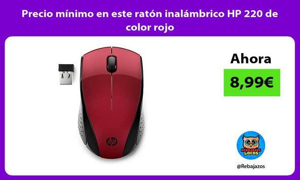 Precio mínimo en este ratón inalámbrico HP 220 de color rojo