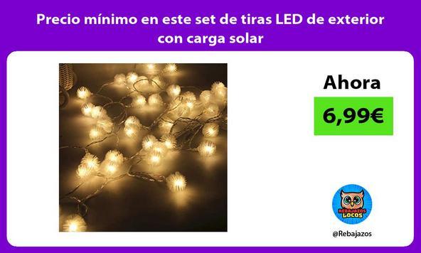 Precio mínimo en este set de tiras LED de exterior con carga solar