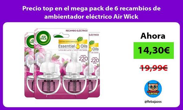 Precio top en el mega pack de 6 recambios de ambientador eléctrico Air Wick
