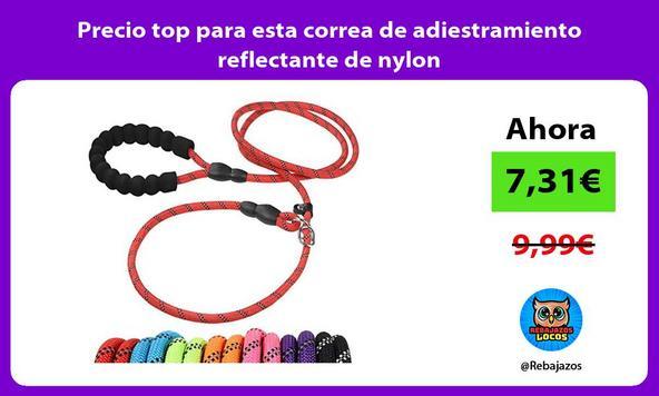 Precio top para esta correa de adiestramiento reflectante de nylon