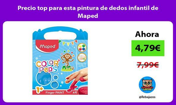 Precio top para esta pintura de dedos infantil de Maped
