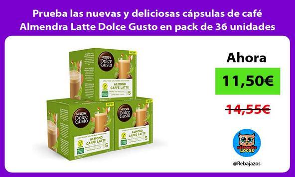 Prueba las nuevas y deliciosas cápsulas de café Almendra Latte Dolce Gusto en pack de 36 unidades