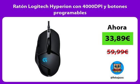 Ratón Logitech Hyperion con 4000DPI y botones programables