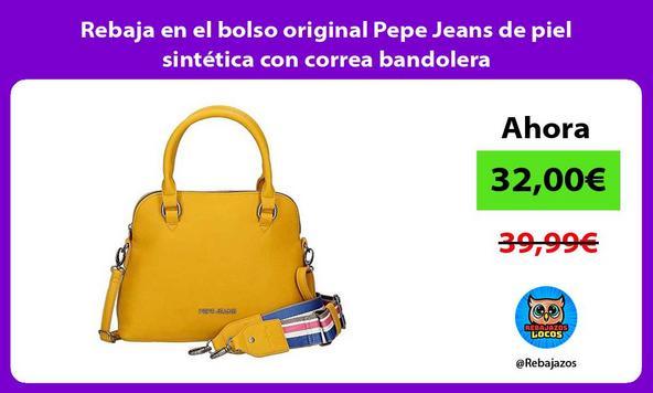 Rebaja en el bolso original Pepe Jeans de piel sintética con correa bandolera