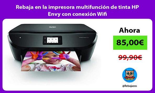 Rebaja en la impresora multifunción de tinta HP Envy con conexión Wifi