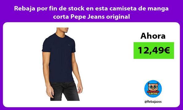 Rebaja por fin de stock en esta camiseta de manga corta Pepe Jeans original