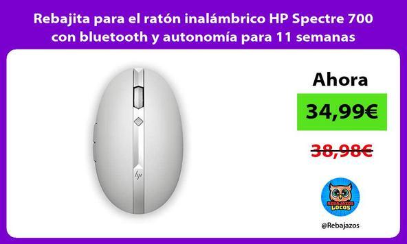 Rebajita para el ratón inalámbrico HP Spectre 700 con bluetooth y autonomía para 11 semanas