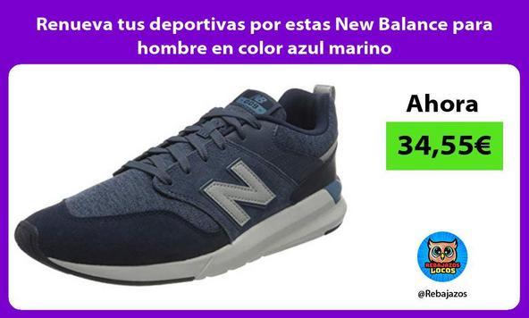 Renueva tus deportivas por estas New Balance para hombre en color azul marino