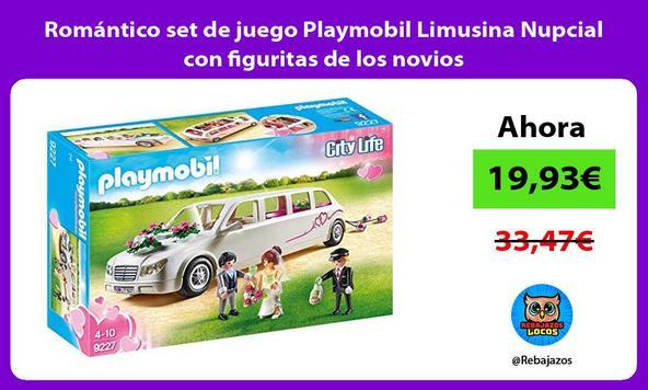 Romántico set de juego Playmobil Limusina Nupcial con figuritas de los novios