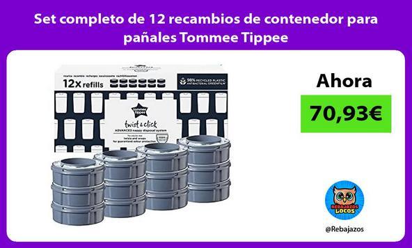 Set completo de 12 recambios de contenedor para pañales Tommee Tippee