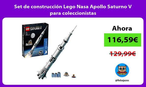 Set de construcción Lego Nasa Apollo Saturno V para coleccionistas