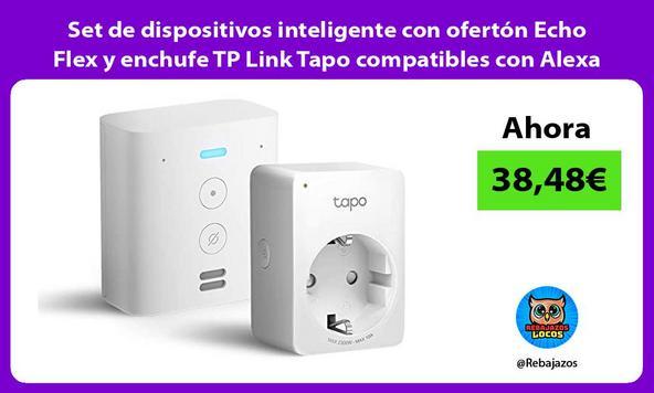 Set de dispositivos inteligente con ofertón Echo Flex y enchufe TP Link Tapo compatibles con Alexa