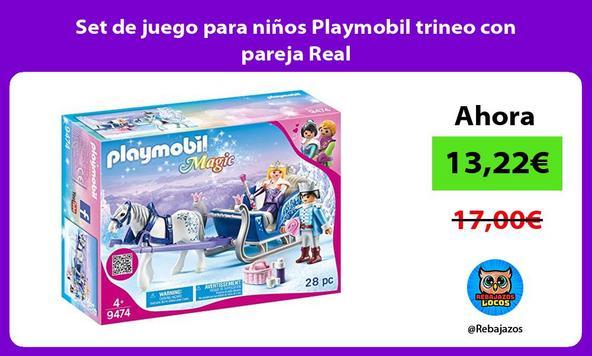 Set de juego para niños Playmobil trineo con pareja Real