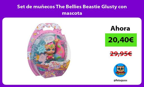 Set de muñecos The Bellies Beastie Glusty con mascota