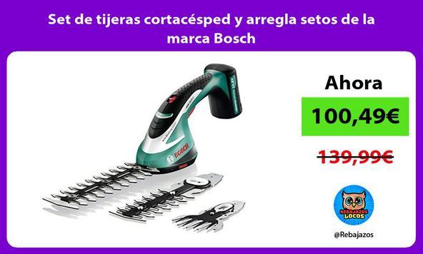 Set de tijeras cortacésped y arregla setos de la marca Bosch