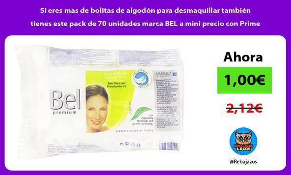 Si eres mas de bolitas de algodón para desmaquillar también tienes este pack de 70 unidades marca BEL a mini precio con Prime