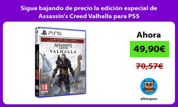 Sigue bajando de precio la edición especial de Assassin's Creed Valhalla para PS5
